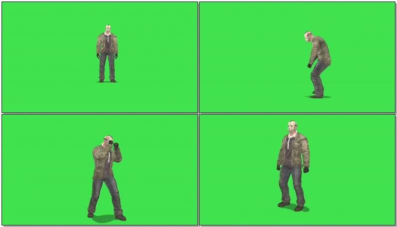 绿幕视频素材面具人