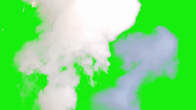 绿屏视频素材烟雾