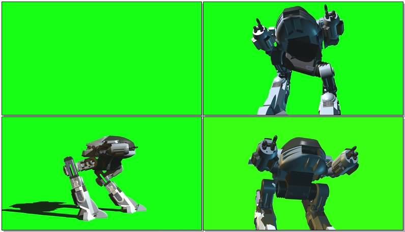 绿屏视频素材ED209机器人
