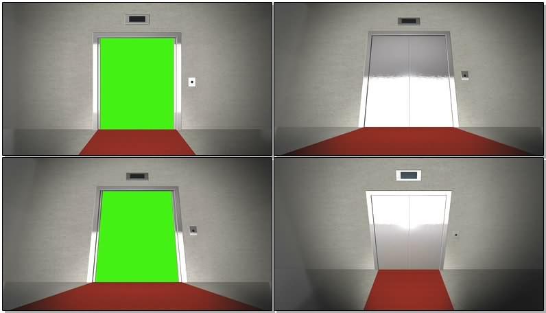 绿幕视频素材电梯