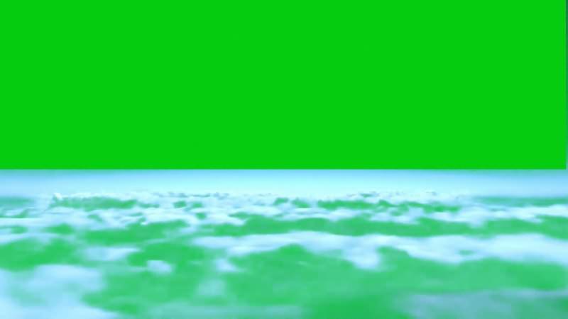 绿幕视频素材空中云层
