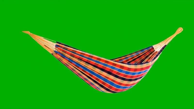 绿幕视频素材吊床