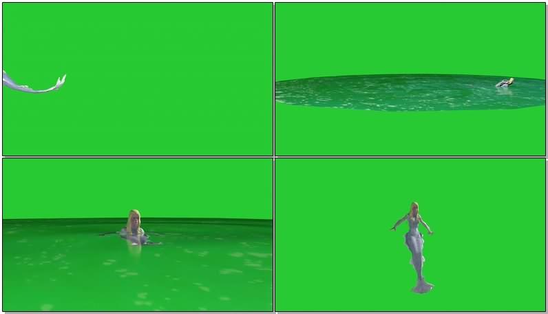 绿幕视频素材美人鱼