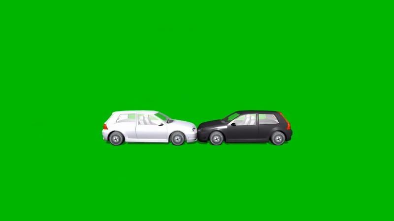 绿幕视频素材车祸爆炸