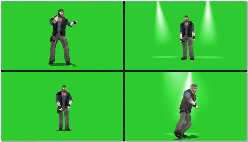 绿幕视频素材真人快打人物