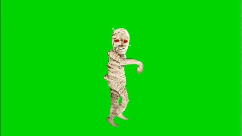 绿幕视频素材木乃伊