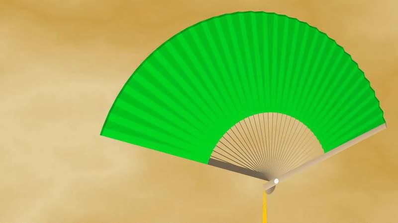 绿幕视频素材扇子
