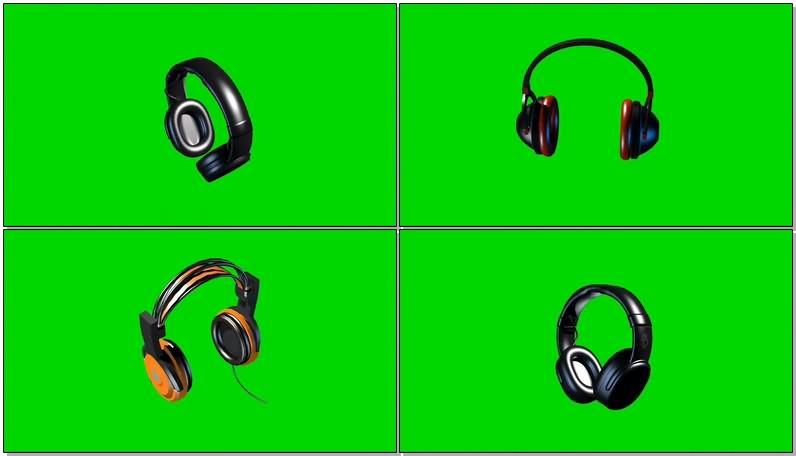 绿幕视频素材耳麦