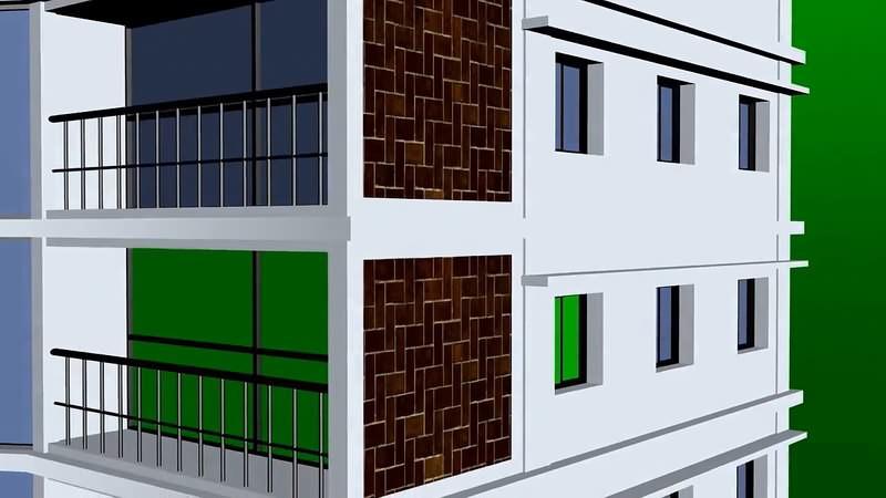 绿幕视频素材楼房