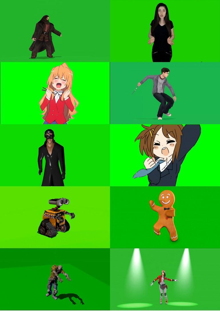 绿屏_绿布_绿幕人物|人像|真人|卡通人物|人群视频素材打包100部第五套