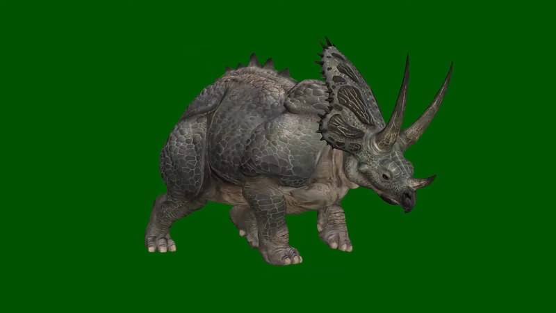 绿幕视频素材恐龙