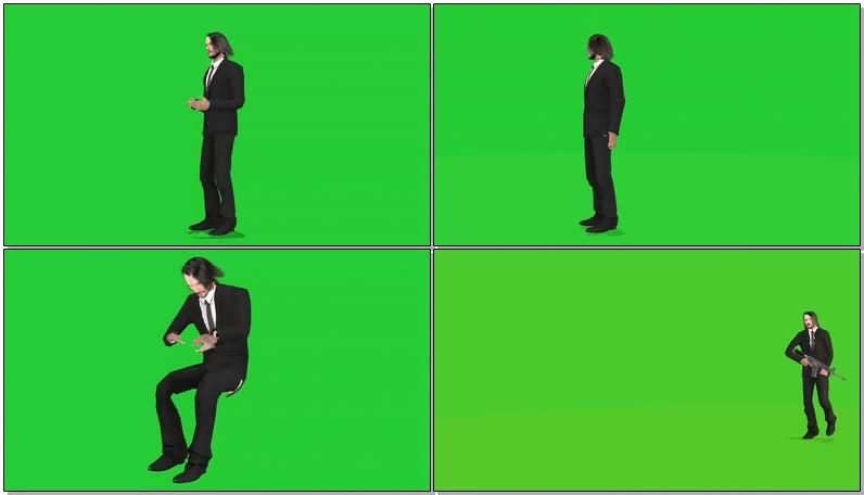绿幕视频素材基努里维斯