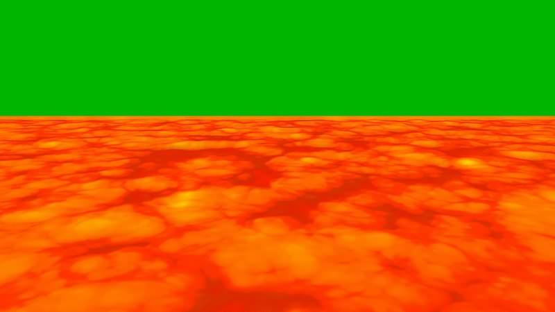 绿幕视频素材岩浆
