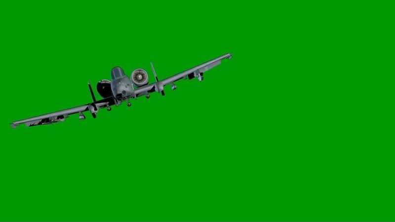 绿幕视频素材雷电Ⅱ攻击机
