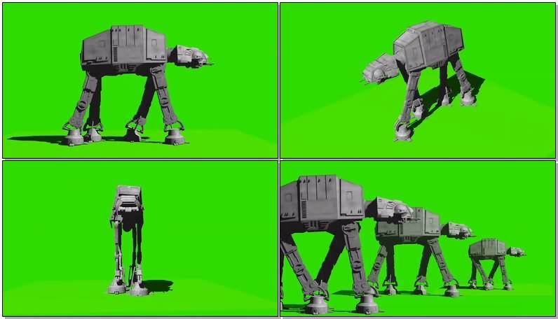 绿幕视频素材帝国战马