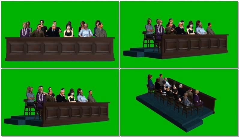 绿幕视频素材陪审团