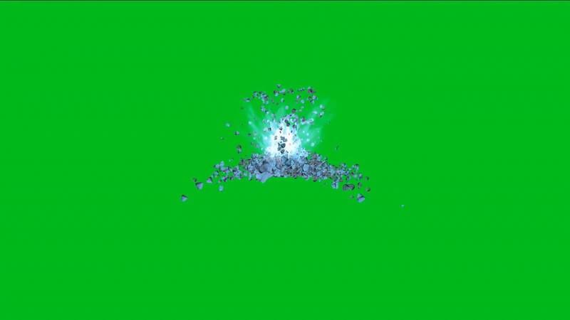 绿幕视频素材矿石喷发.jpg