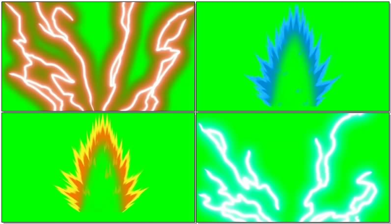 绿幕视频素材七龙珠冲击波