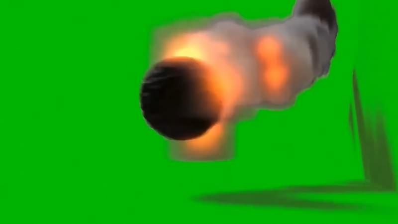绿幕视频素材陨石撞击