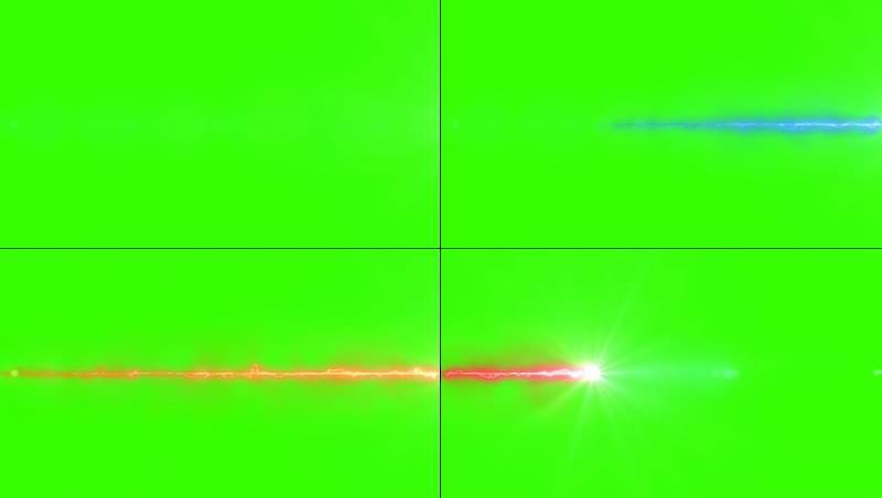 绿幕视频素材音波射线