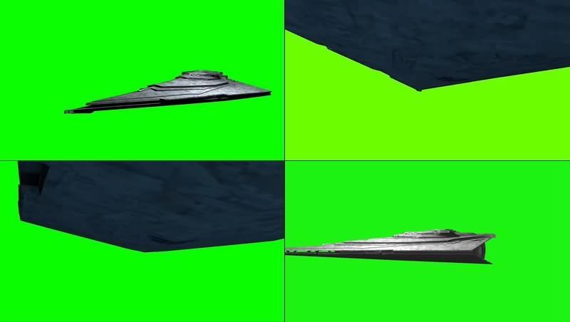 绿幕视频素材星际驱逐舰