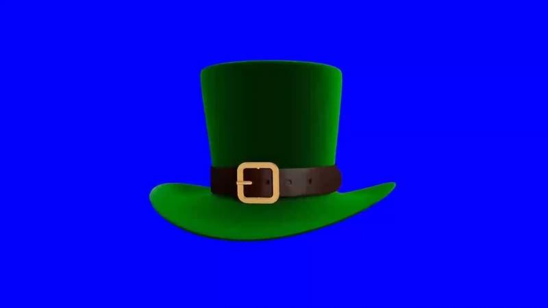 绿幕视频素材绿帽子