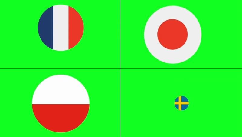 绿幕视频素材世界国旗