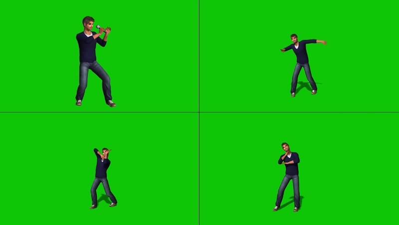 绿幕视频素材歌手