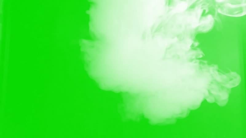 绿幕视频素材白色烟雾