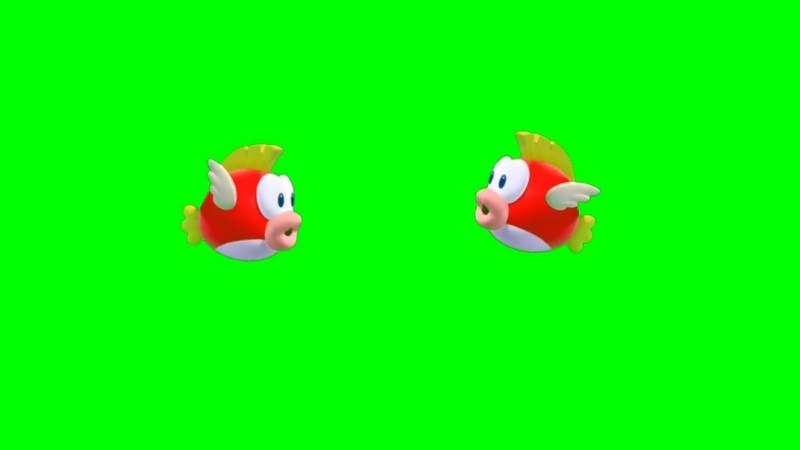 绿幕视频素材卡通金鱼