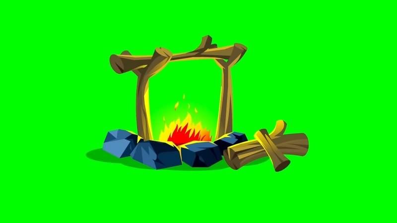 绿幕视频素材烧烤架