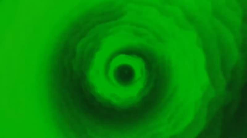 绿幕视频素材飓风漩涡