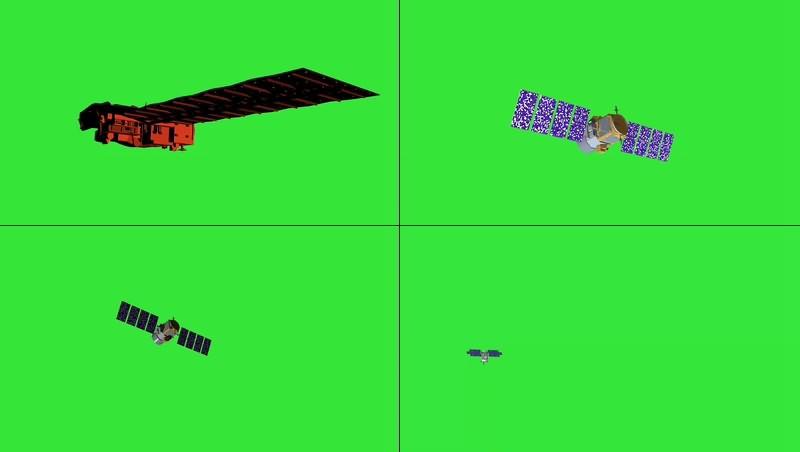绿幕视频素材人造卫星