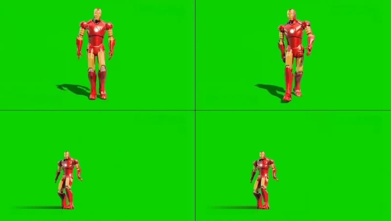 绿幕视频素材钢铁侠