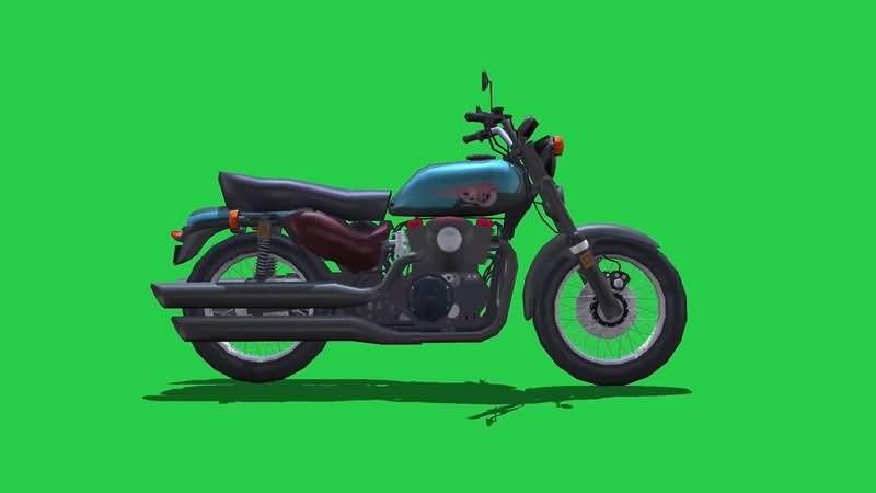 绿幕视频素材摩托车.jpg