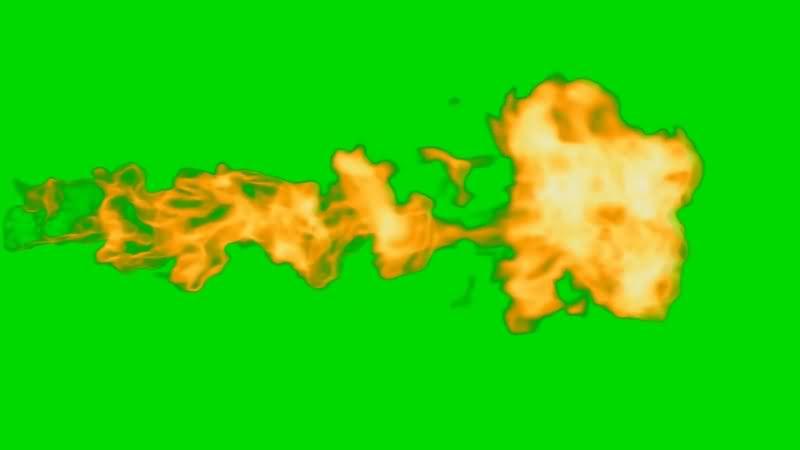 绿幕视频素材火焰