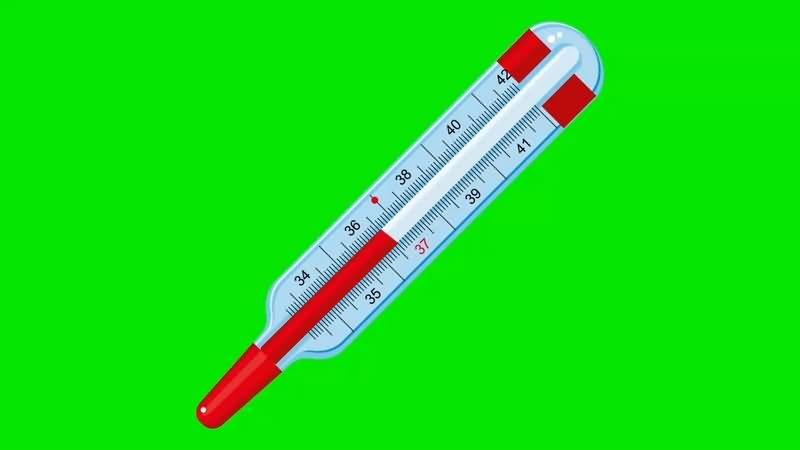 绿幕视频素材体温计