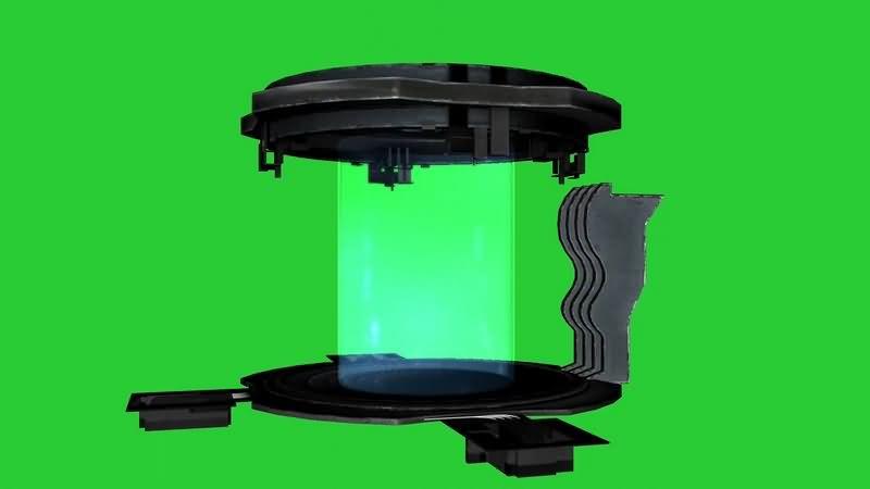 绿幕视频素材时光机