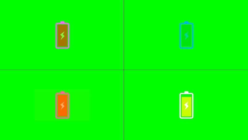 绿幕视频素材电池电量