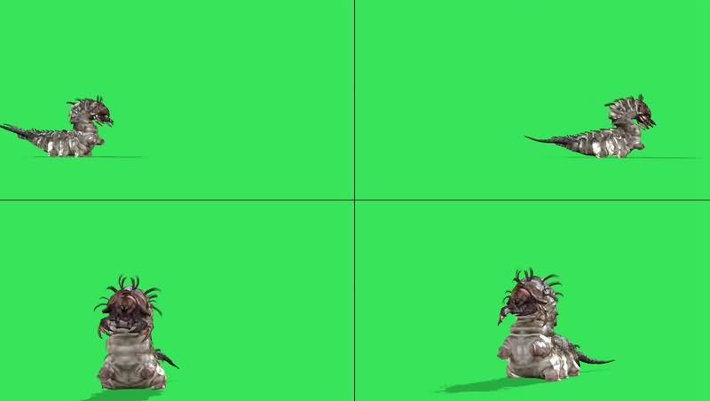 绿幕视频素材巨大幼虫