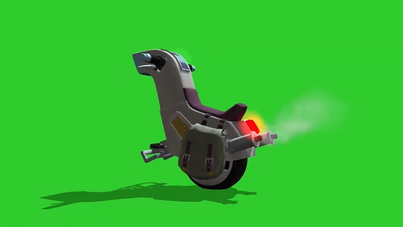 绿幕视频素材独轮摩托