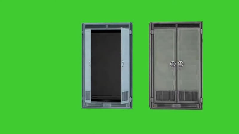 绿幕视频素材衣柜