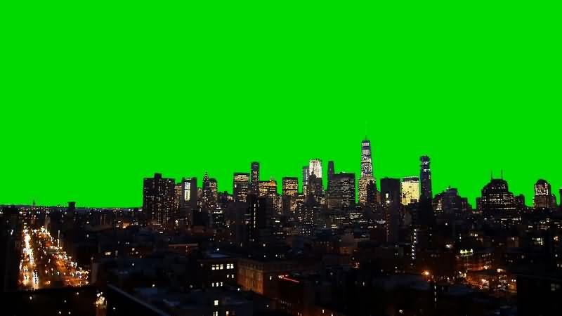 绿幕视频素材城市夜景