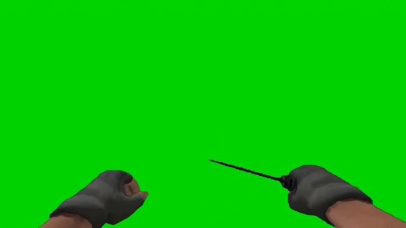 绿幕视频素材挥刀