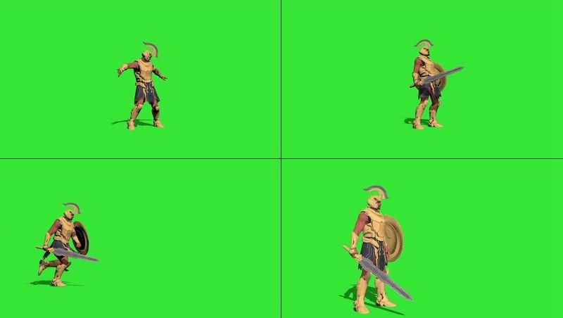绿幕视频素材角斗士