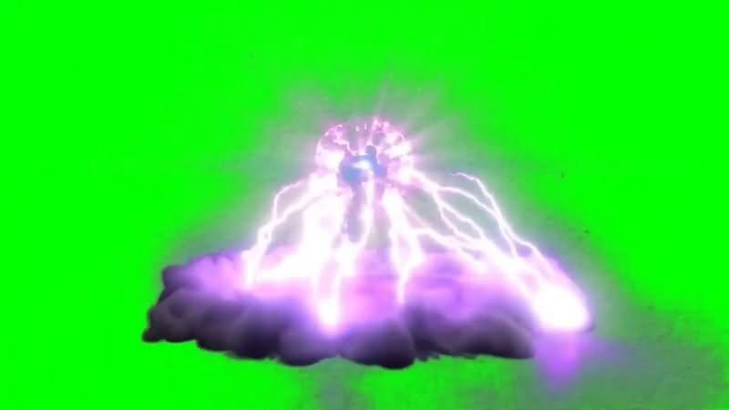 绿幕视频素材能量球