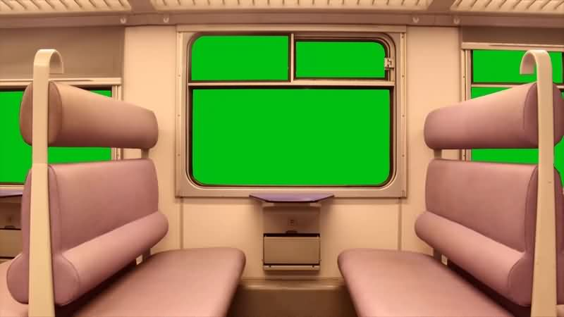 绿幕视频素材火车车厢