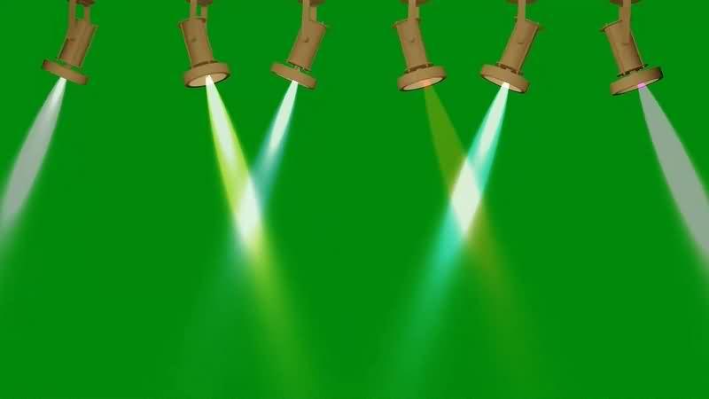 绿幕视频素材聚光灯