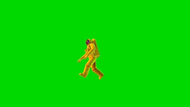 绿幕视频素材宇航员