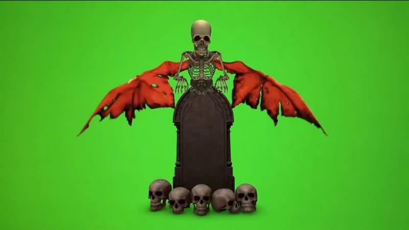 绿幕视频素材骷髅坟墓